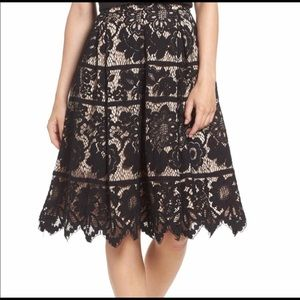 Eliza J lace Skirt
